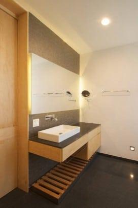 Diseño de mueble de madera de lavabo
