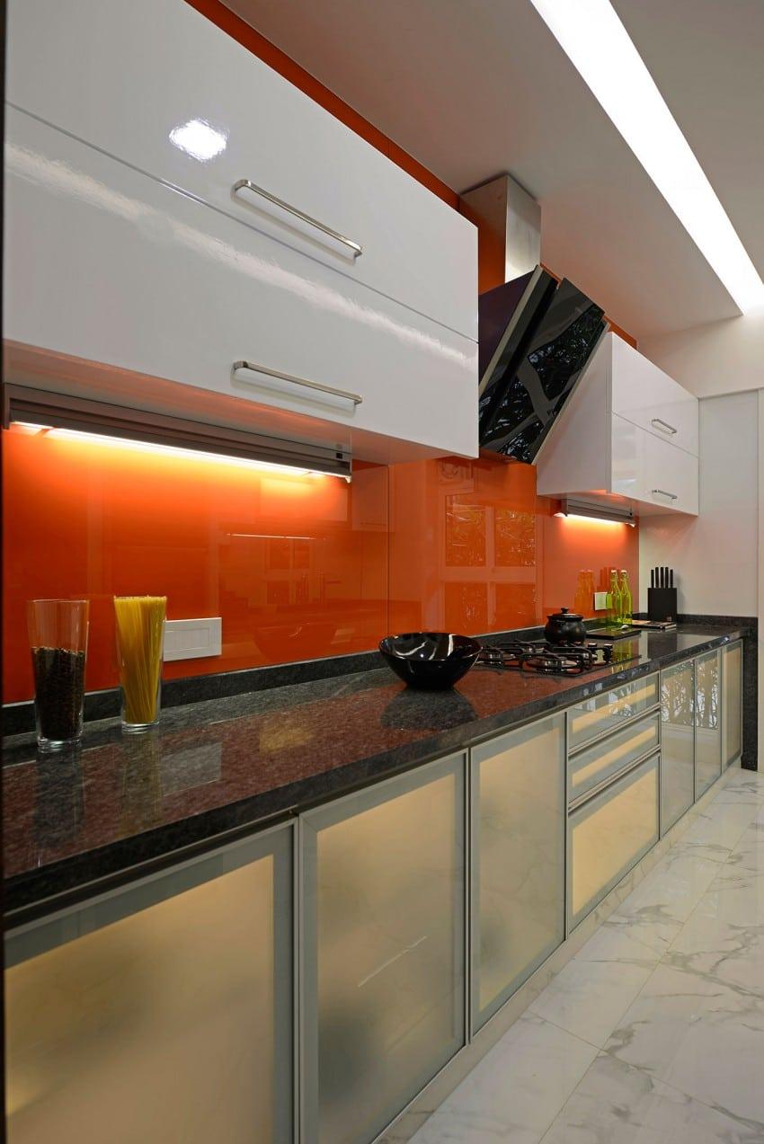 Plano y dise o de interiores departamento construye hogar for Muebles de cocina de madera modernos