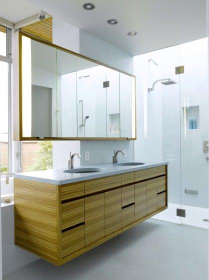 Diseño de muebles de lavabo de dos grifos