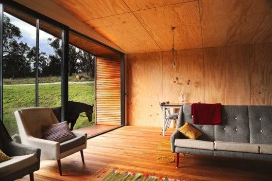 Diseño de pequeña sala de casa de campo