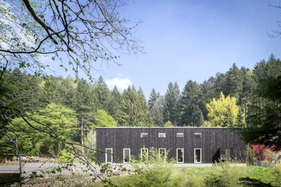 Diseño de perfil de casa de campo