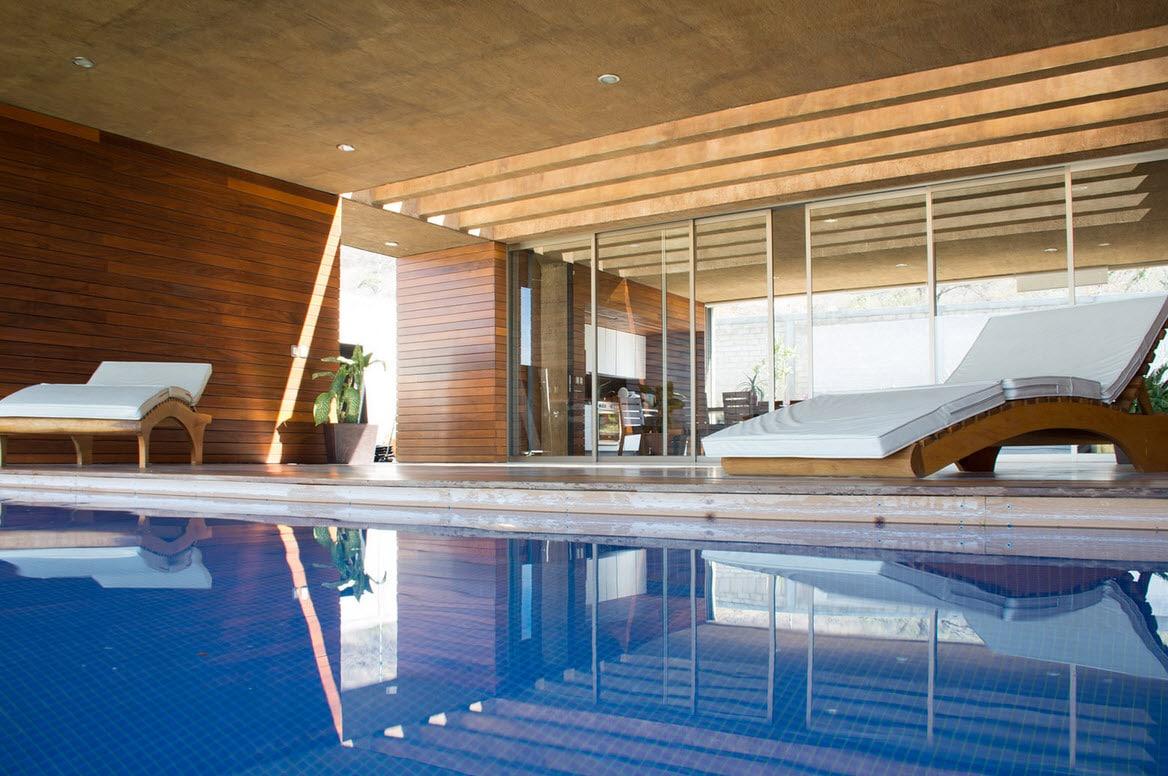 Dise o de casa cuadrada con planos y fachadas construye for Piscina cuadrada