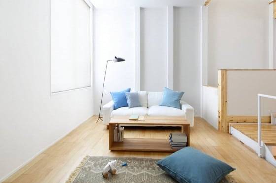 Diseño de sala estar de casa prefabricada