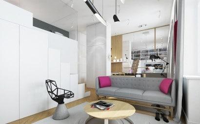 Diseño de sala para departamento pequeño