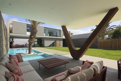 Diseño de terraza de casa de playa