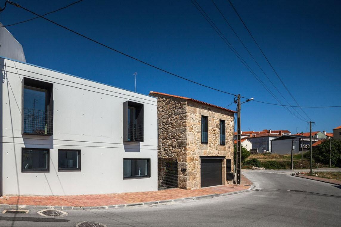 Remodelaci n de casa de dos pisos construye hogar - Fachada de casas de dos plantas ...