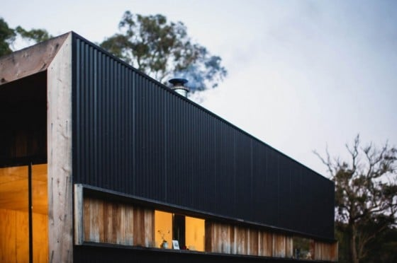 Fachada de perfil de casa de campo