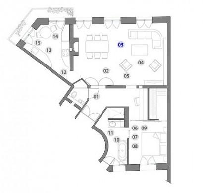 Plano de casa triangular