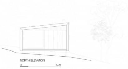 Plano de elación de pequeña casa de campo