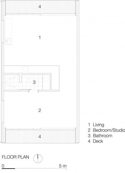 Plano de pequeña casa de campo