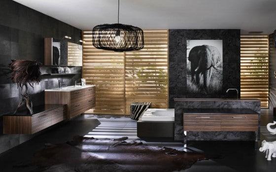 Decoración de cuarto de baño con matices naturaleza