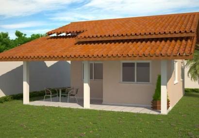 Diseño de cabaña pequeña de 49 metros cuadrados