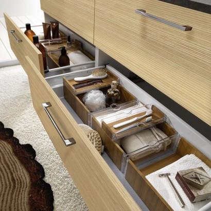 Diseño de cajones de mueble de cuarto de baño