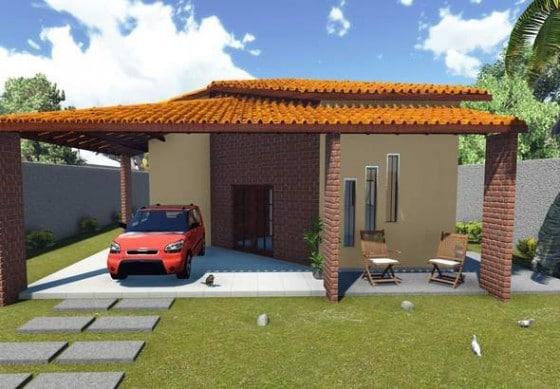 Diseño de casa de campo de tres dormitorios