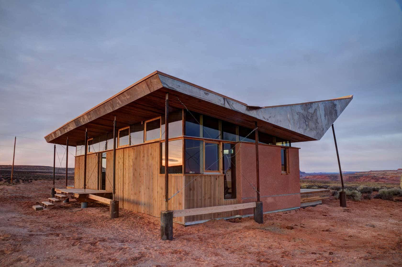 Proyecto de peque a casa de arcilla y madera construye hogar - Casa pequena de madera ...