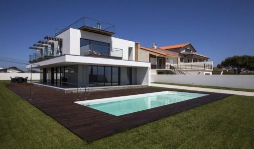 Diseño de casas de dos pisos con piscina
