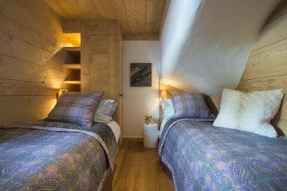 Diseño de dormitorio rústico de madera