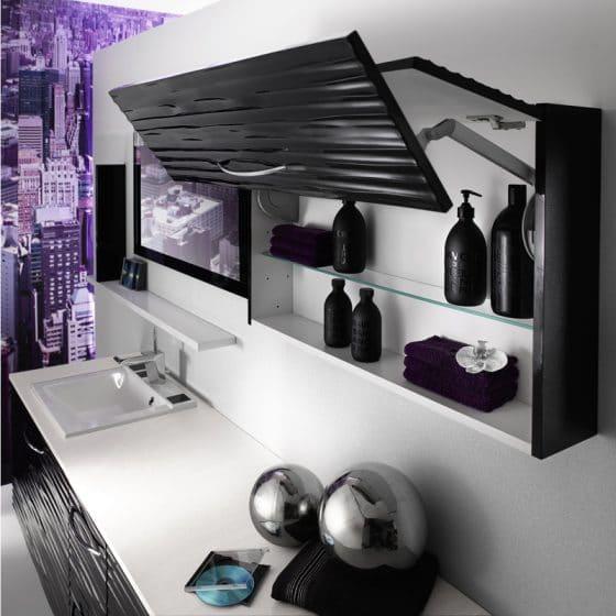Diseño de estante para cuarto de baño