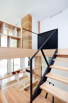 Diseño de estanterías de madera de casa