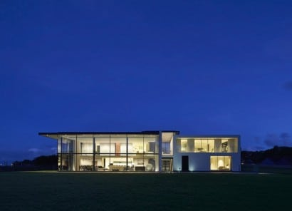 Diseño de fachada de casa moderna grande