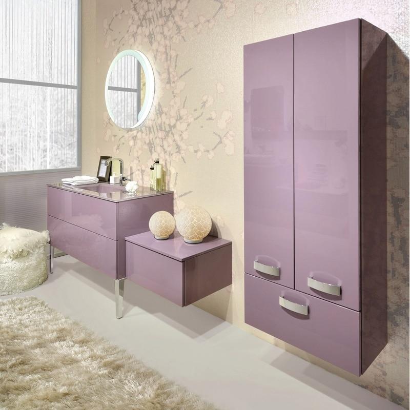 Muebles De Baño Flotantes:Diseño de muebles de color rosa para cuarto de baño