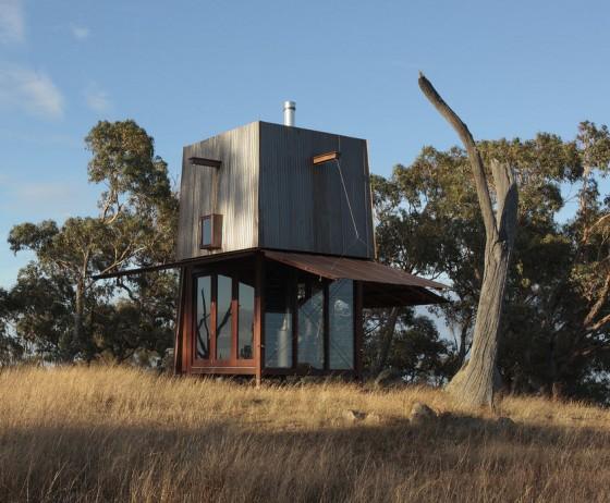 Diseño de cabaña muy pequeña para acampar