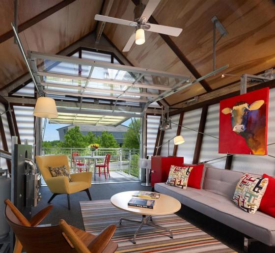 Diseño de sala de pequeña casa de campo