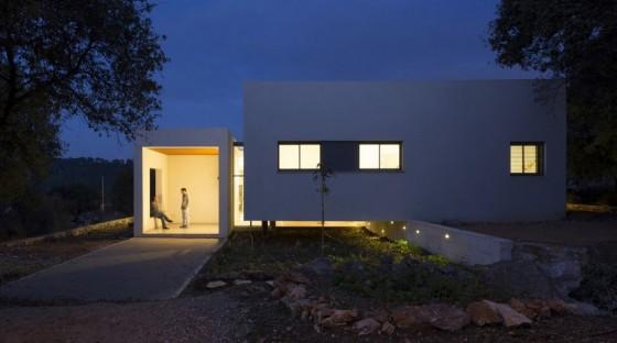 Fachada de casa de un piso moderna 4
