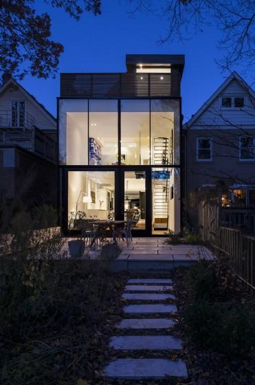 Planos de casa angosta y larga construye hogar for Casa moderna vintage