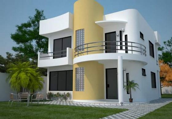 Casas de dos pisos y tres dormitorios construye hogar Fachadas para casas de dos plantas