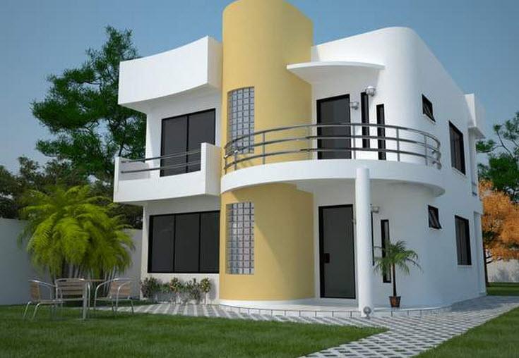 Fachada de casa moderna de dos pisos en esquina for Fachadas de casas modernas pequenas de 2 pisos