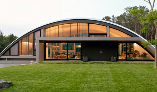 Fachada de casa moderna tipo arco