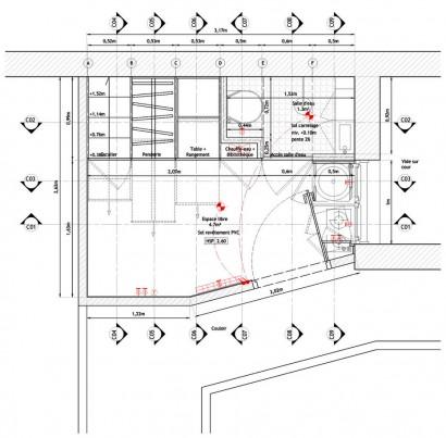 Plano de apartamento muy pequeño con medidas