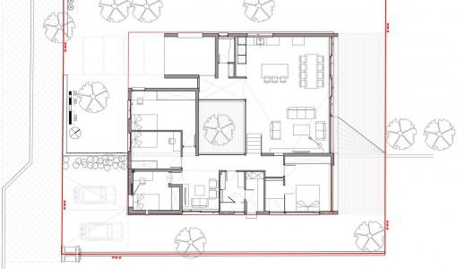 Plano de casa cuadrada