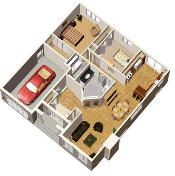 Planos de caba as de campo peque as construye hogar for Planos de casas de dos dormitorios