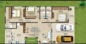casas de un piso y tres dormitorios planos y fachadas de modernas
