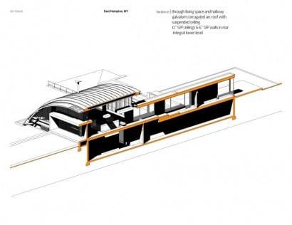 Plano de corte de casa arco