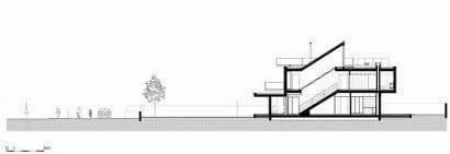 Plano de corte de casa con piscina 03