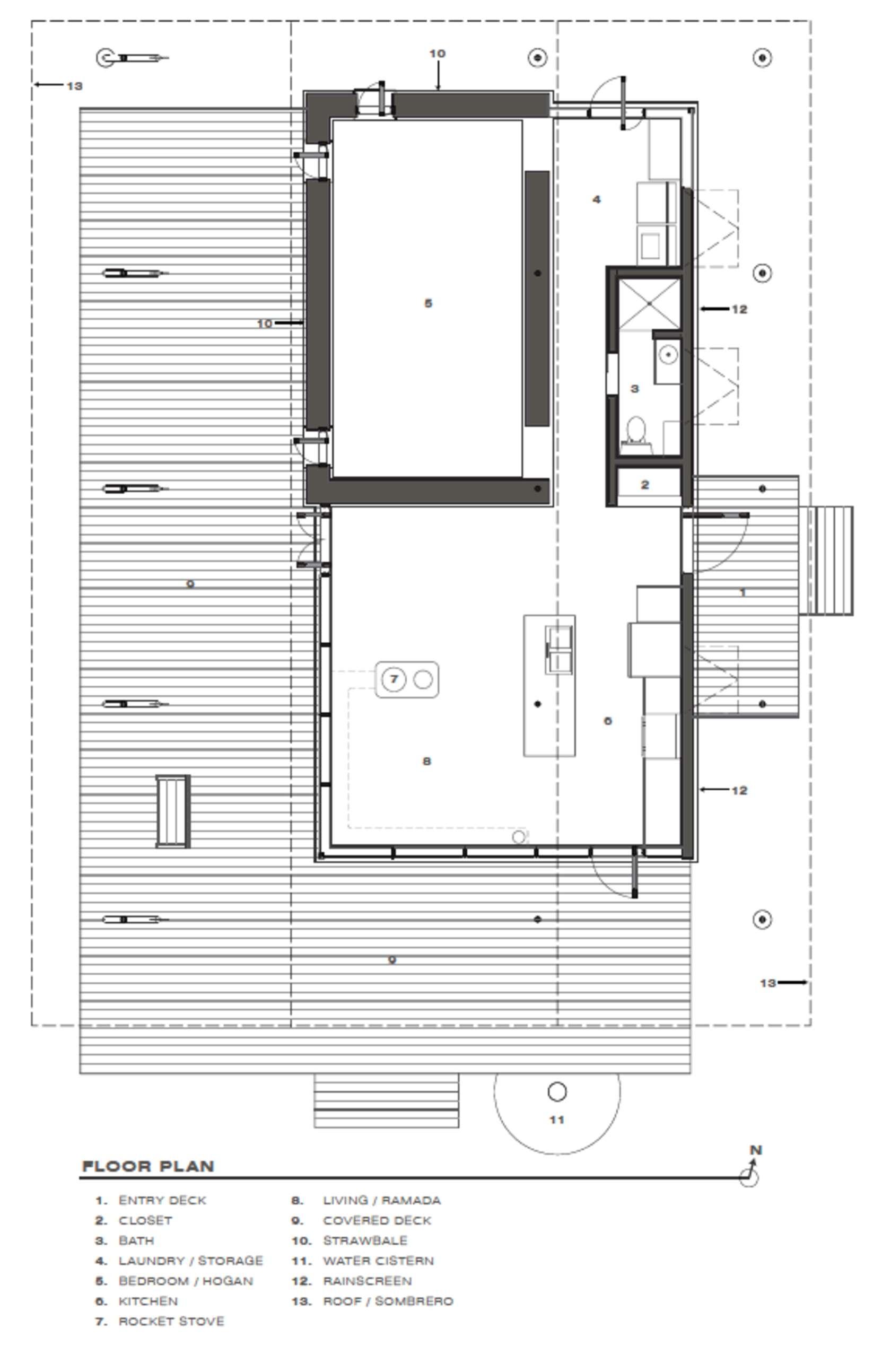 Proyecto de peque a casa de arcilla y madera construye hogar - Planos de casas rurales ...
