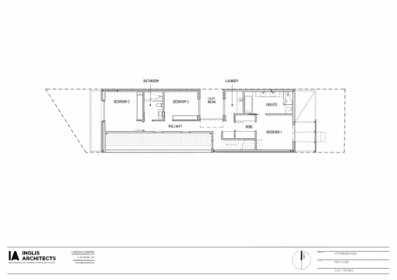 Plano segunda planta de casa construida en terreno pequeño