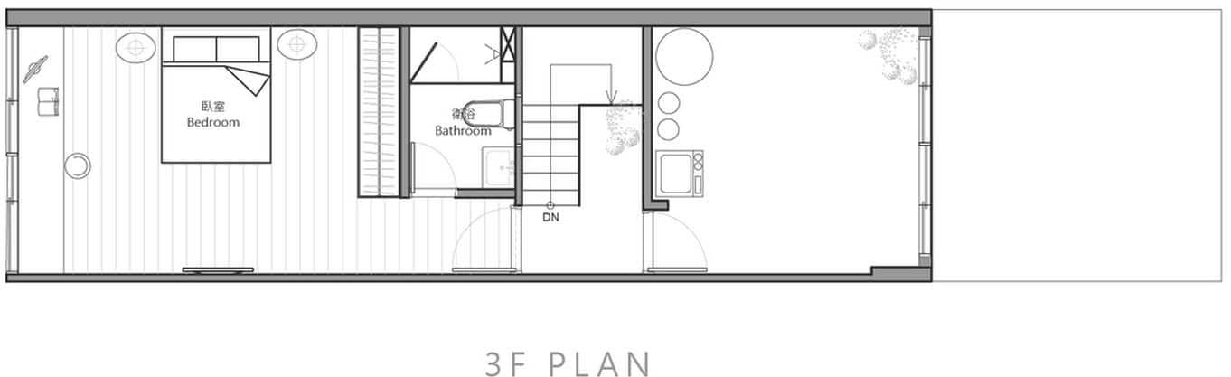 Planos de casa angosta y larga de tres dormitorios - Planos de casas alargadas ...
