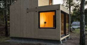 Diseño de cabaña moderna de madera 002