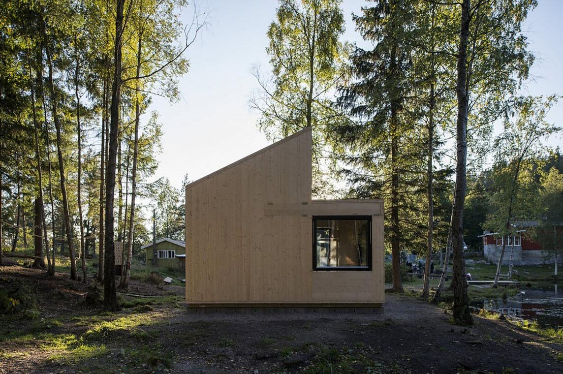 Dise o de caba a de madera monovolumen construye hogar - Cabanas modernas ...