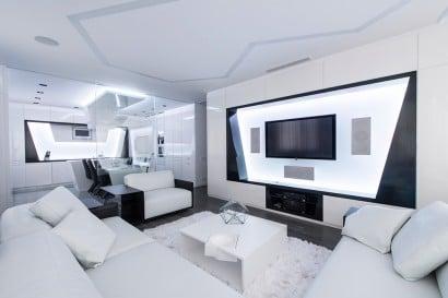 Diseño de departamento futurista