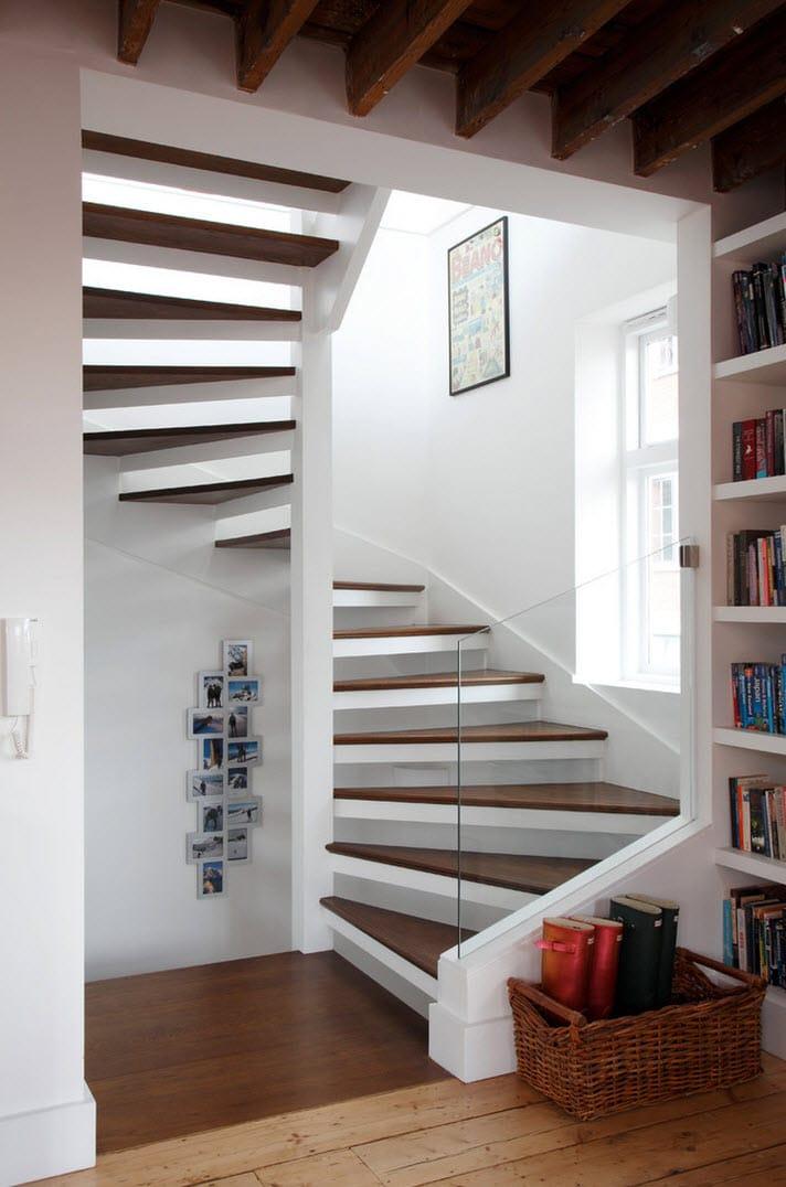diseo de escaleras con baranda de vidrio