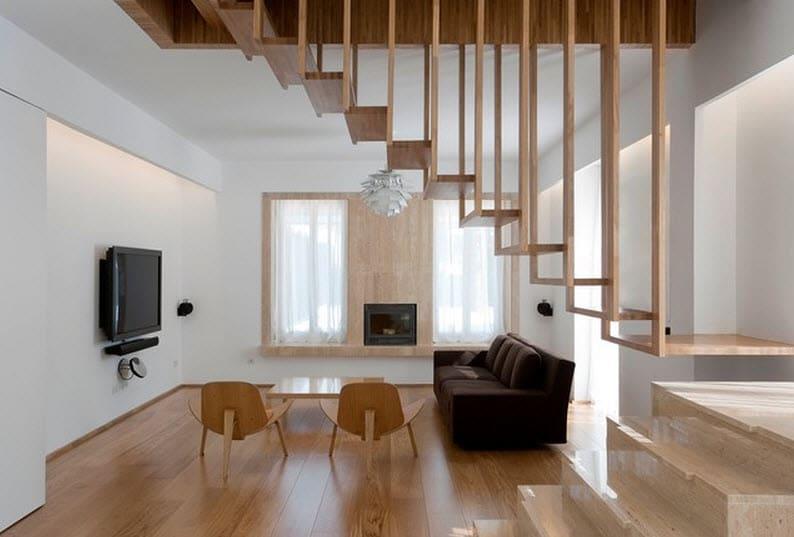diseo de escaleras de madera delgada