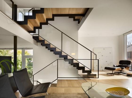 Diseño de escaleras en zig zag