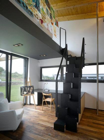 Diseño de escaleras muy pequeñas para departamentos