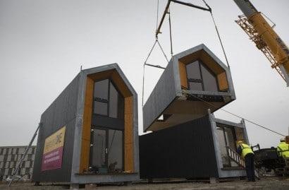 Ensamblaje de casa prefabricada