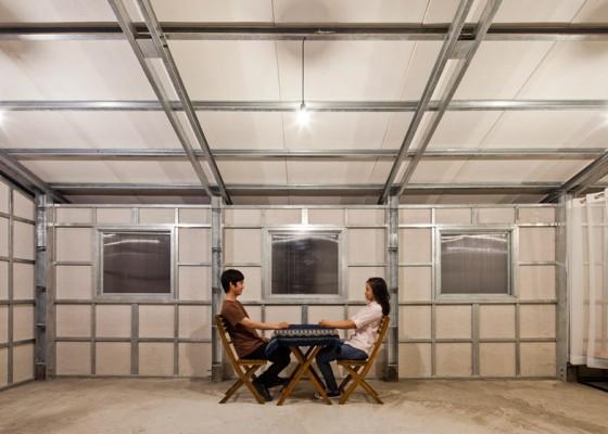 Estructuras internas de acero de pequeña casa anti sismica